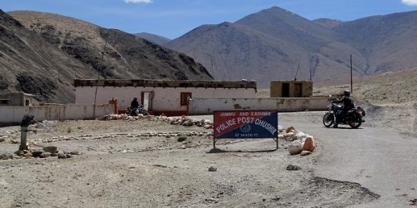 A Police Station in Chushul, Leh. It is the last village on India China Border