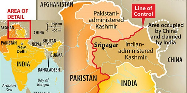 Present border between India and Pakistan. After the defeat in 1971 both countries agreed to accept LOC as their border.