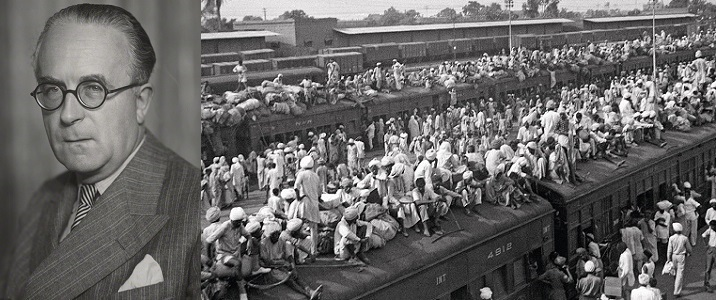 It was first visit of Sir Cyril Radcliffe to India. The Partition resulted in displacement of 14 million people making it the largest mass migration in human history