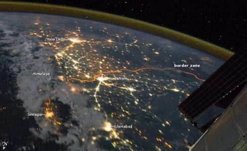 Image of India-Pakistan border taken by NASA.