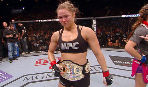 Ronda Rousey is current UFC Women's Bantamweight Champion