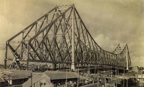 The Rabindra Setu (Howrah Bridge) in Kolkata. It is sixth largest cantilever bridge in the World.