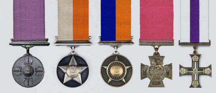War Medals Given to Heros of Indian army