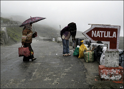 Nathu La pass is one of the major route connecting the Chinese City of Lahasa.