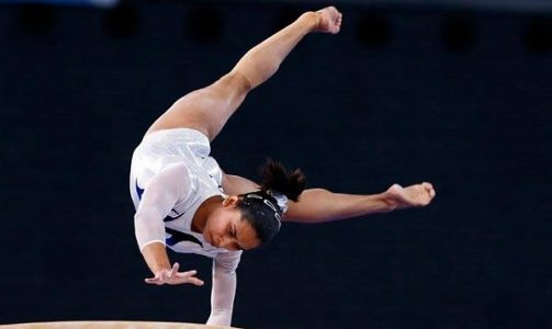 Dipa Karmakar in Gymnastics Vault event. Image Source: indiatoday.intoday.in