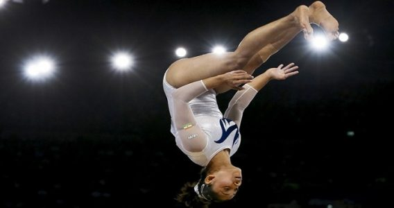 Dipa Karmakar Performing Produnova. Image Source: indianexpress.com