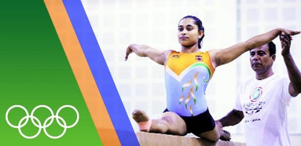 Dipa Karmakar with her coach
