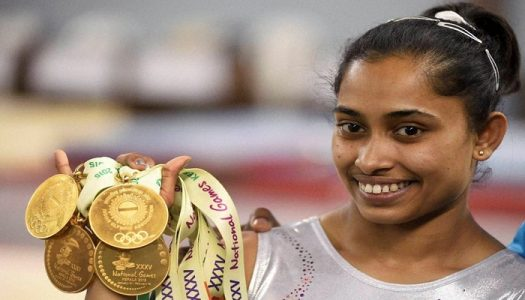 Dipa Karmakar with her medals. Image Source: www.aanthaireporter.com