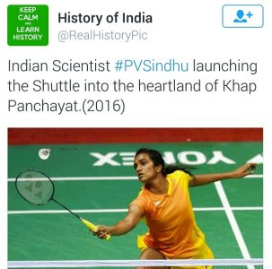 History of India and PV Sindhu