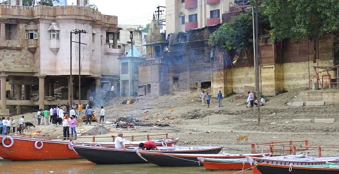 Ghats of Varanasi and Harishchandra Ghat