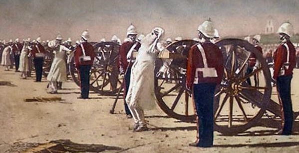 A famous painting of Vasily Vereshchagin showing how British Forces suppressed the revolt of 1857