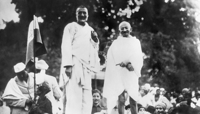 Historic Image of Khan Abdul Gaffar Khan and Mahatma Gandhi