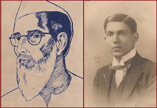 Left: Sketch of Maghfoor Ahmad Ajazi and Right: Childhood Image of Asif Ali