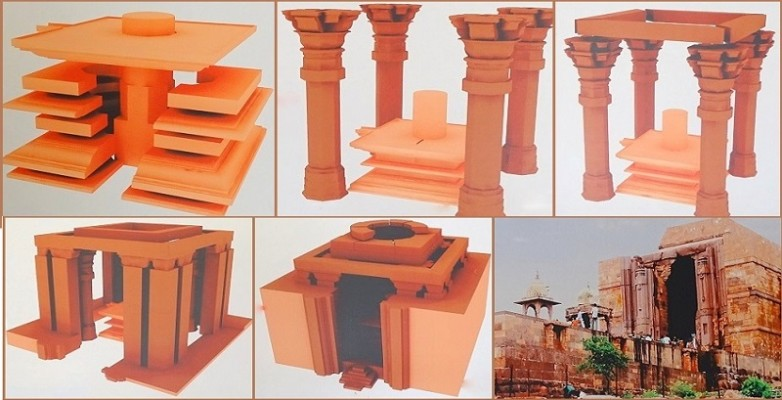 Different stages of Construction of Bhojeshwar Temple