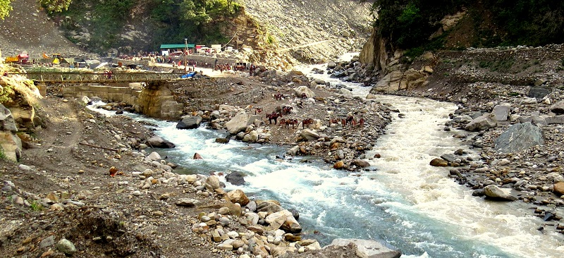 Sonprayag: Confluence of mandakini River and Vasuki Ganga River