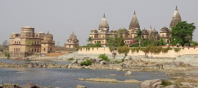 Chattris on the Bank of River Betwa. It is recommended to view them from the other side of Betwa River.