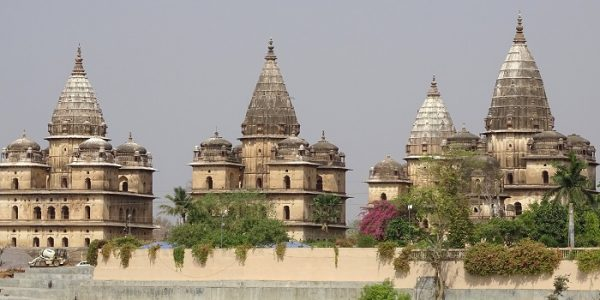 View of Chattris of Orchha Situated on the banks of Betwa River