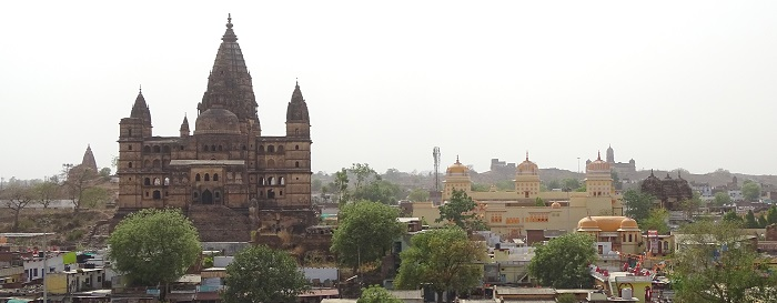 Panoramic View of Chaturbhuj Temple and Raja Ram Temple of Orchha