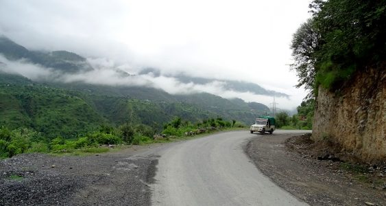 Road from Pathankot to Bairagadh on Sach Pass