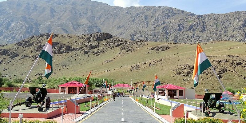 Kargil War Memorial on Srinagar-Leh Highway. The Highway is also known as NH 1D and provides a vital connectivity between Leh City and Srinagar City.