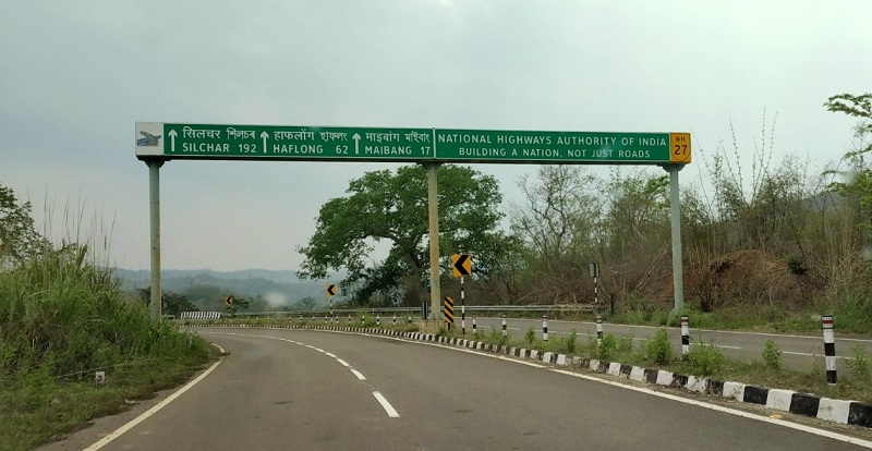 A Notice Board on Maibang Lumding Higway By NHAI