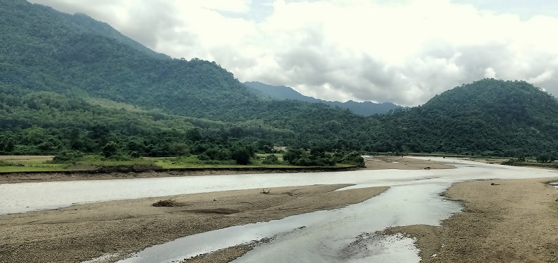 Mahur River Flows Parallel To The Maibang-Haflong Stretch of The Highway