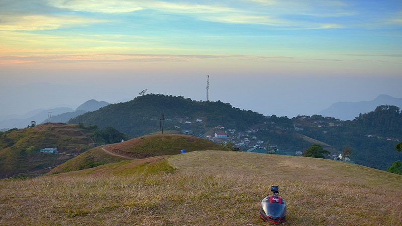 Sunset At Sialsuk In Mizoram With My Travel Gears