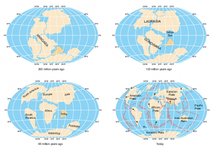 Formation of Himalayan Mountain Range according to plate tectonic theory