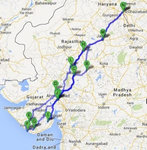 Royal Orient Route covers state of Rajasthan and Gujrat.