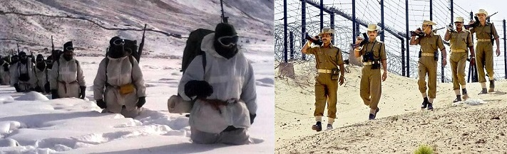 From -60°C at Siachen Glacier to 50°C in Thar Desert, Indian Defence forces guard one of the dangerous border of the world.
