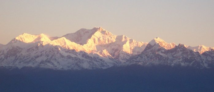 kanchenjunga (8586 m undisputed) is the highest peak of India. It lies in Indian State of Sikkim. Image Source: Wikipedia.org