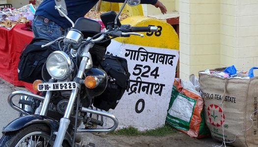 Motorcycle trip to Badrinath
