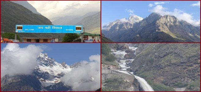 Mountains at Badrinath temple