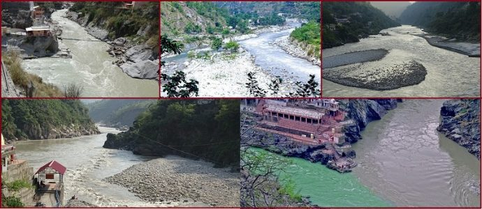 Image of All Five Panch Prayag in Hinduism