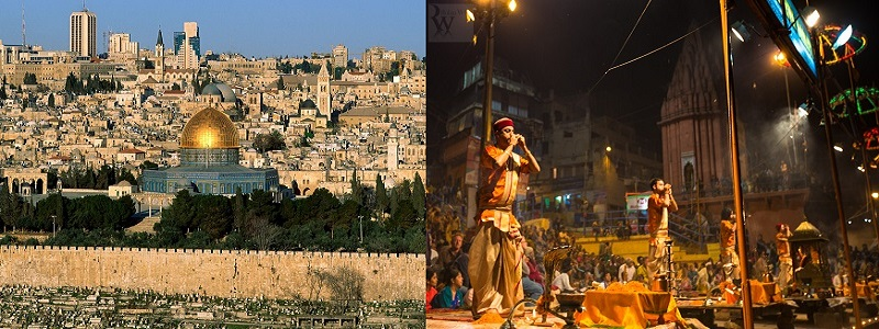 The City of Jeruslem and City of Varanasi are oldest inhabited cities of the world.