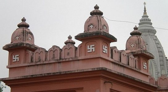 The Symbol Swastika can be found on Most of the Hindu temples and texts
