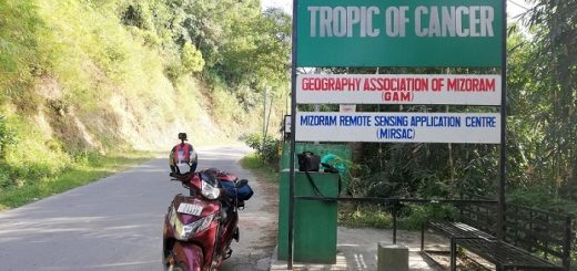 Tropic of Cancer Board in Mizoram