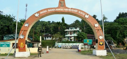 India Bangladesh Friendship Gate At Tamabil Check Post