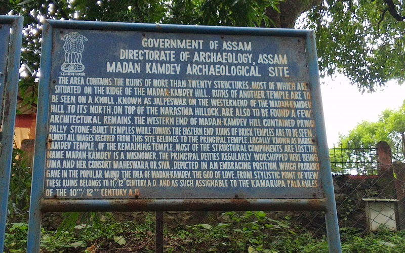 Notice Board In Madan Kamdev Explaining Its Importance and Finding