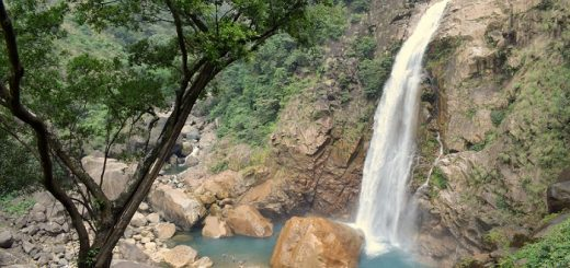 Rainbow Waterfalls in Meghalaya