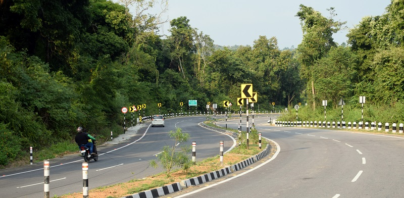 Curves on Lumding Maibang Highway. The Highway is also known as The National Highway 27