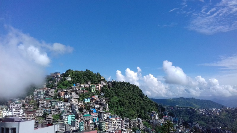 Aizwal City Seen From the MacDonalds Hills