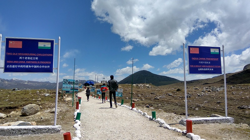 Bum La Pass on India China Border In Arunachal Prades