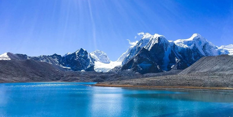Gurudongmar  Lake On India China Border In Sikkim