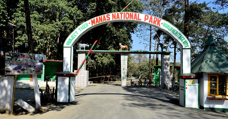 Mathanguri Checkpost on India Bhutan Border In Assam