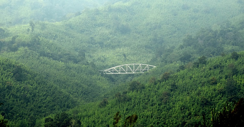 Railway Bridge on Old Haflong Silchar Highway Highway