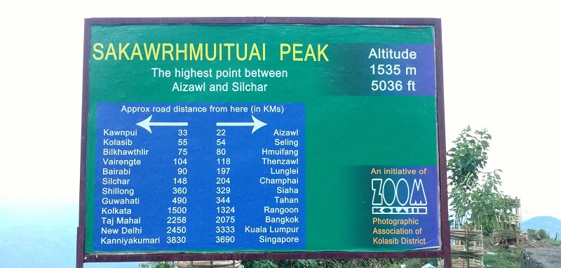 Sakawrhmuituai Peak Is the Highest Peak On the Silchar Aizwal Highway