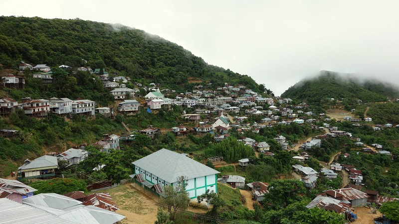 Vaphai On India Myamar Border In Mizoram