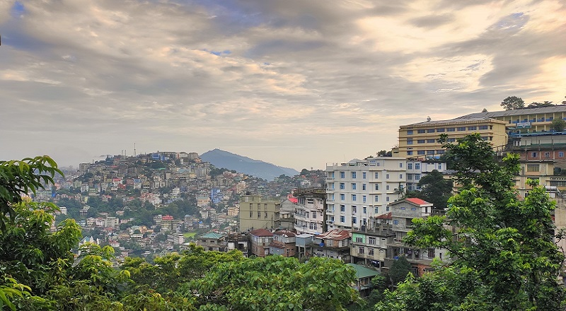 Aizwal City As Seen From Tlangnuam