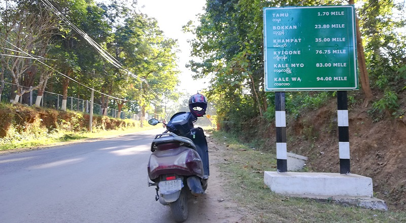 Bike Ride To Tamu In Myanmar And Moreh In India